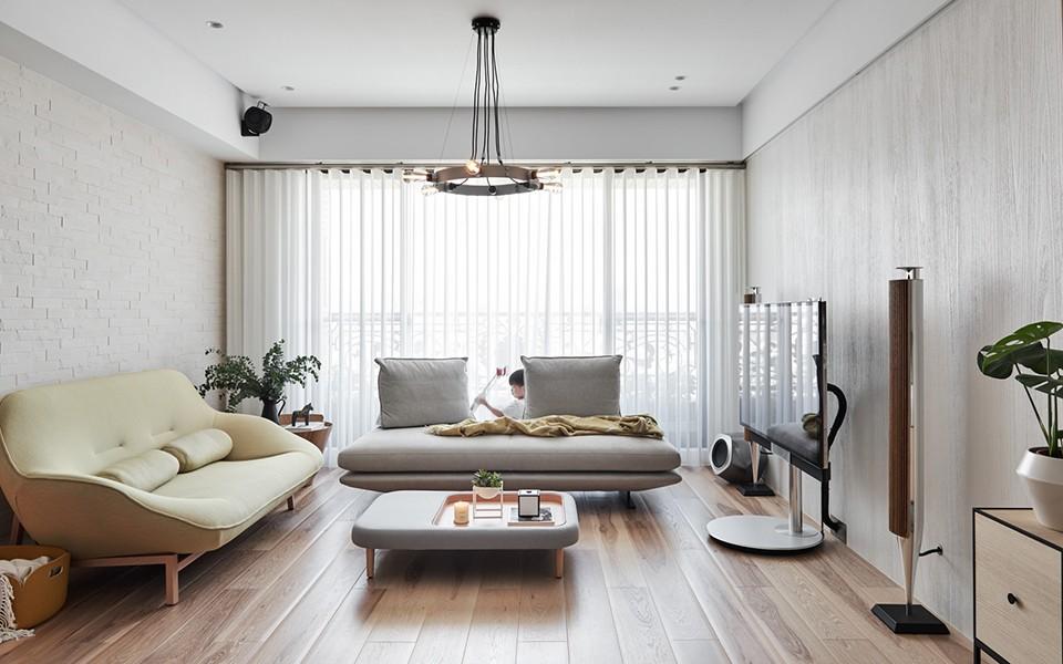 海德公园 106平方现代简约风格三居室装修效果图