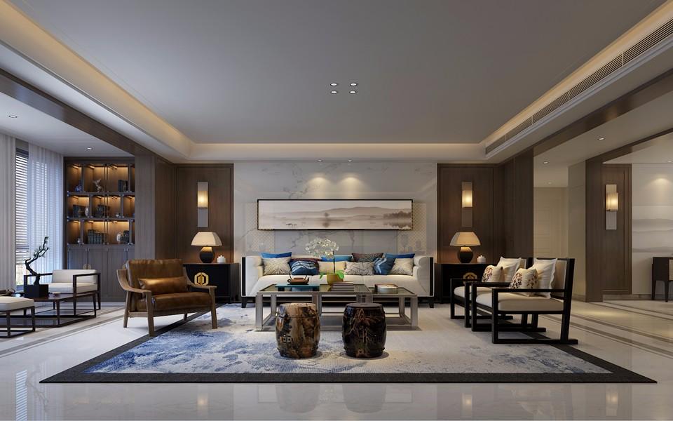 中式风格200平米四室两厅新房装修效果图
