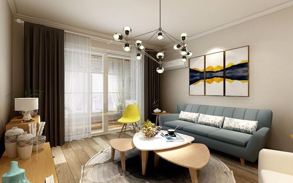 阳光城上府89平米北欧风格三居装修效果图