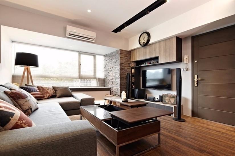 花溪半岛混搭风格78平三居室装修效果图