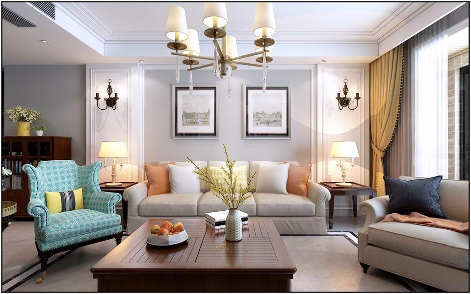 140㎡三室两厅简美风格效果图