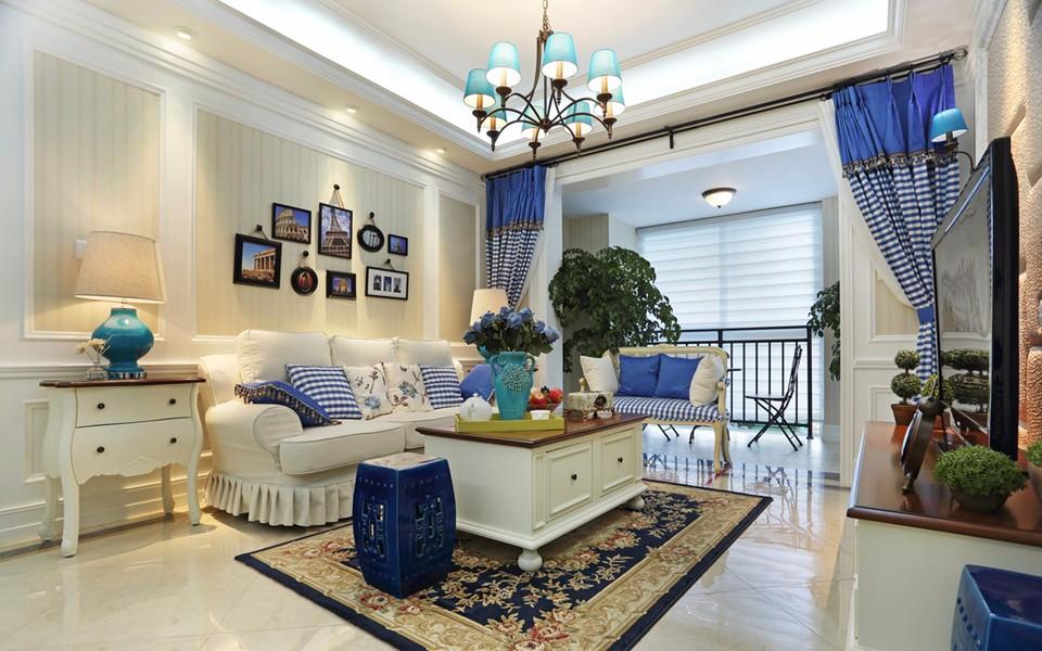 康润园田园风格90平方三居室装修效果图