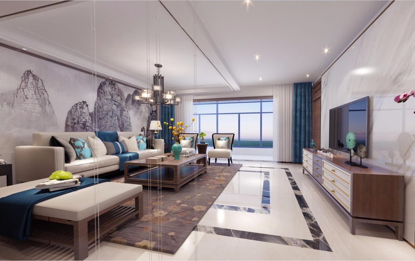 4室2卫2厅240平米新中式风格