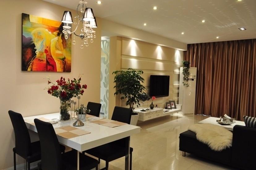 北大资源燕南现代风格90平三居室装修效果图