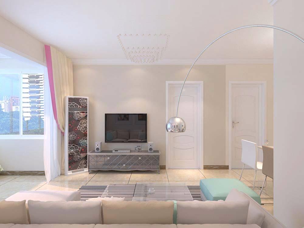 宏瑞国际星城90平二居室现代简约装修效果图