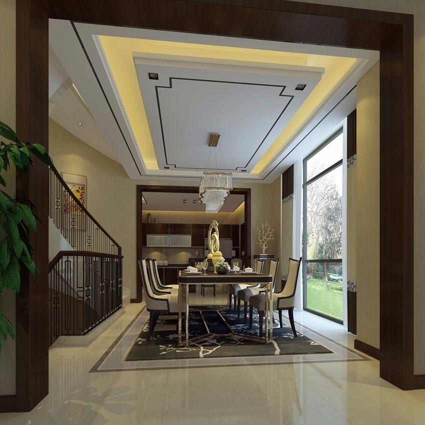 450平米新中式风格四居装修效果图