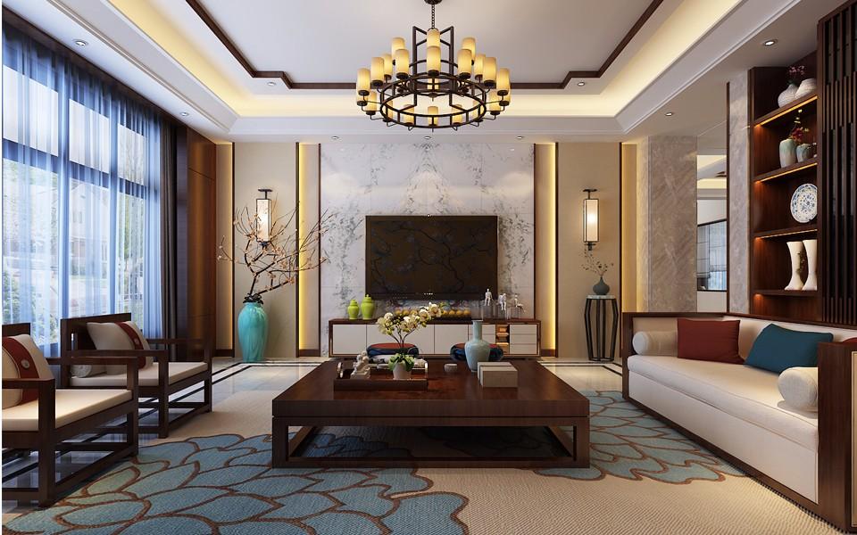 5室2卫4厅300平米新中式风格