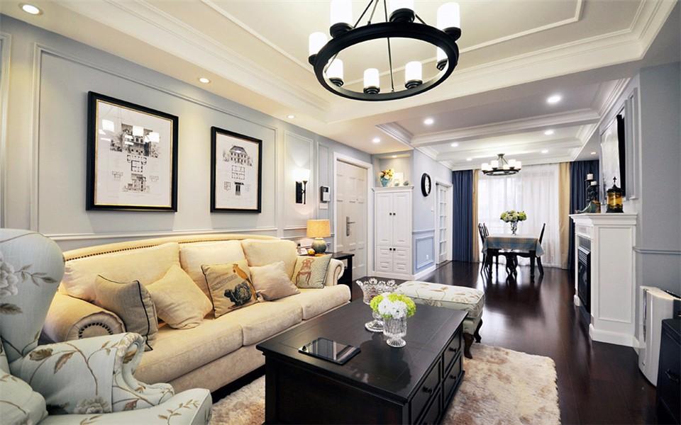 美式風格85平米小戶型室內裝修效果圖