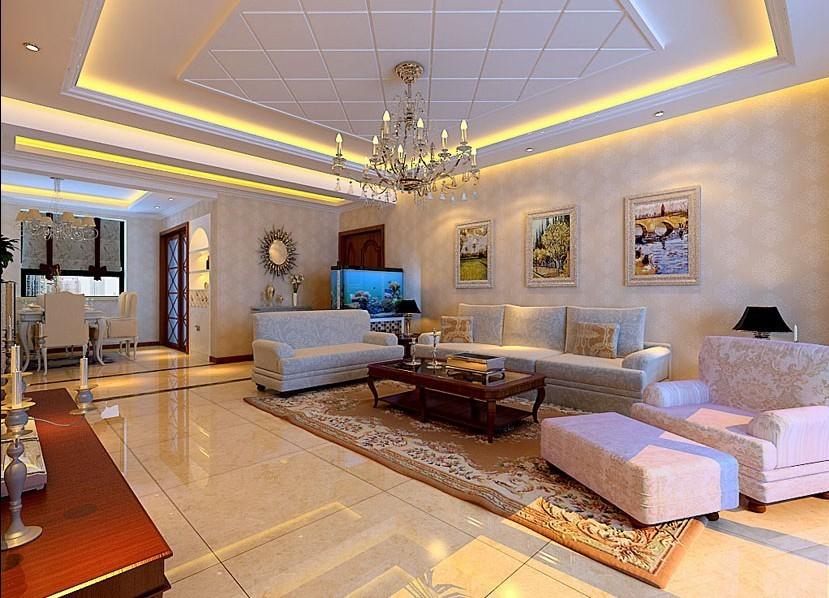 简欧风格140平米三室两厅新房装修效果图