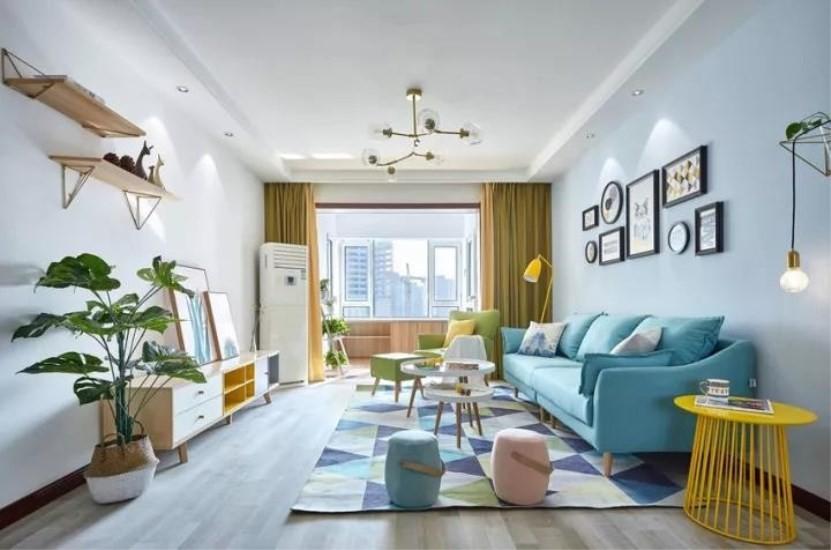 北欧风格139平米三室两厅新房装修效果图