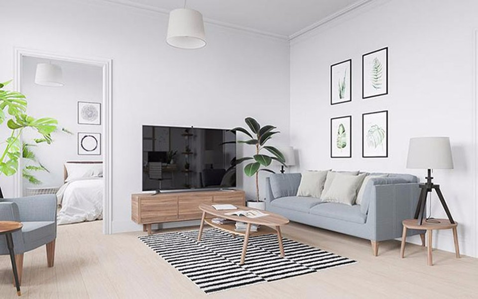 85平二居室简约风格装修效果图