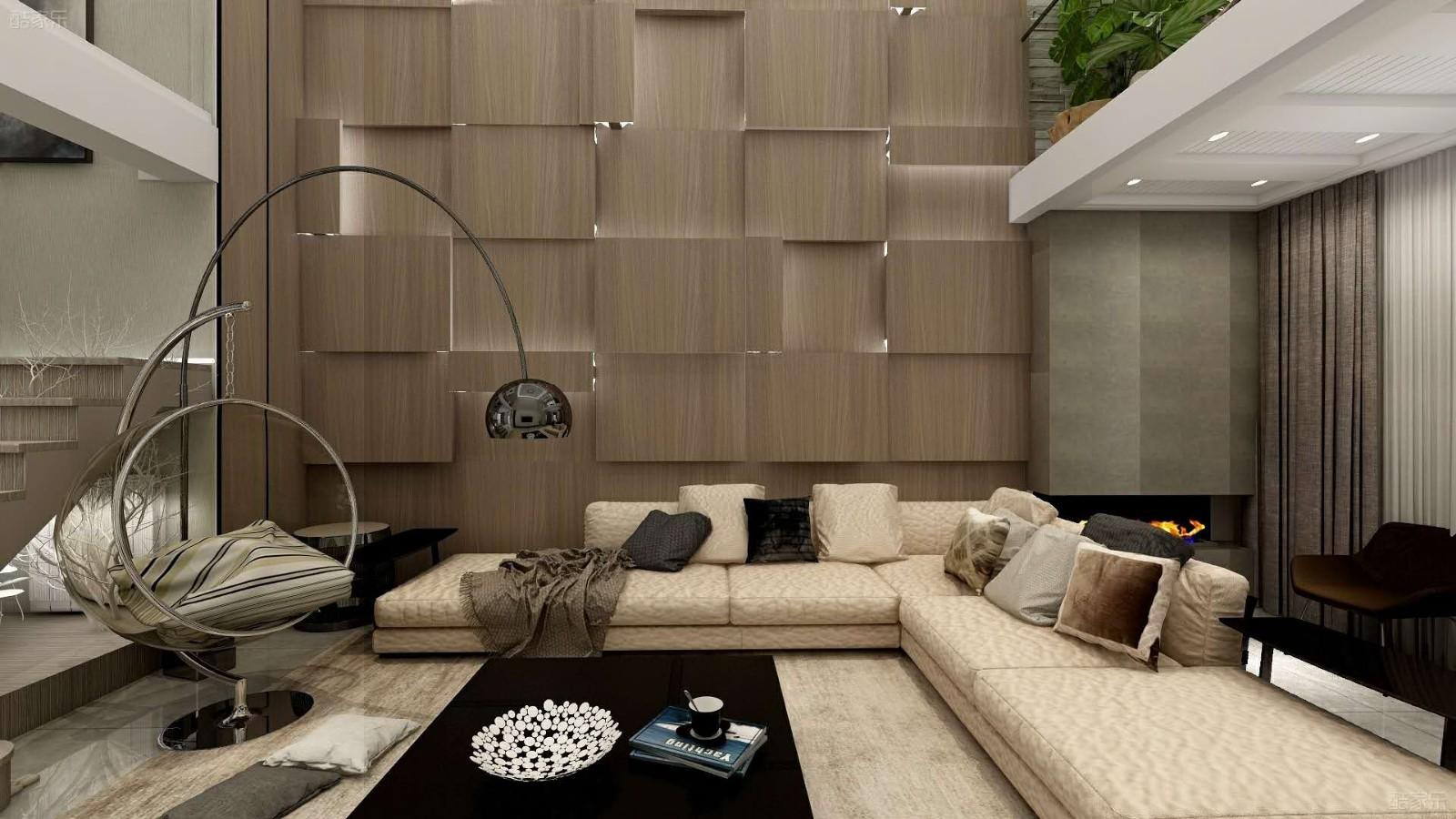 168平方现代简约风格复式四居室装修效果图
