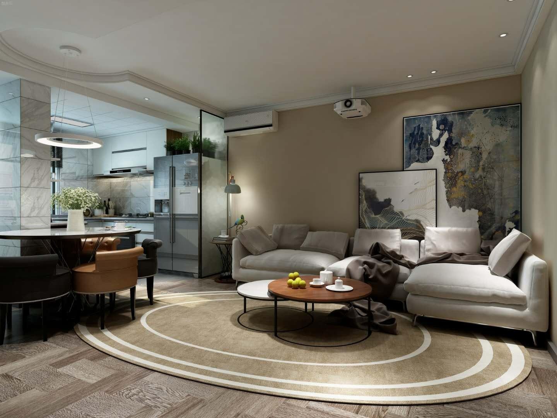 简约风格70平米两室两厅新房装修效果图