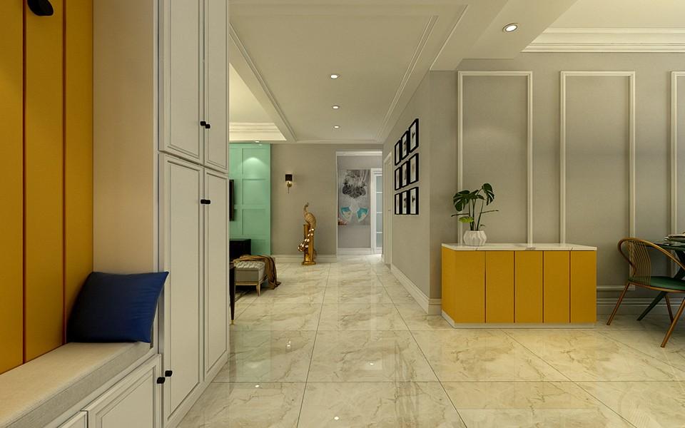 140平方现代简约二居室汇景湾装修效果图