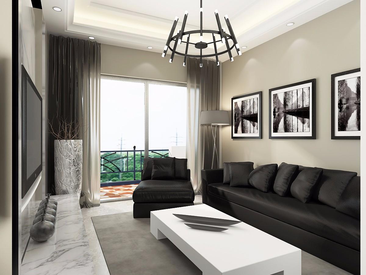 现代简约风格200平米三居室装修效果图