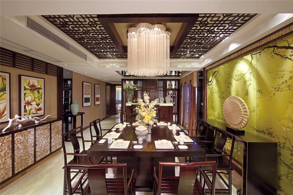 137平米新中式三房雅居装修效果图