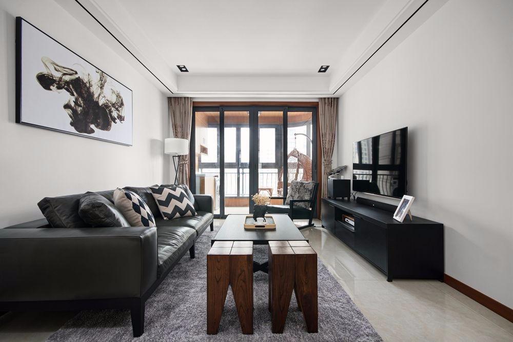 碧桂园97平现代简约风格二居室装修实景图