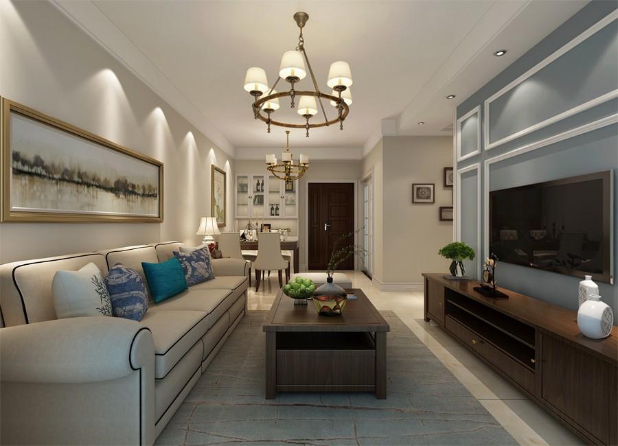 108平米现代简约风格三居室装修效果图