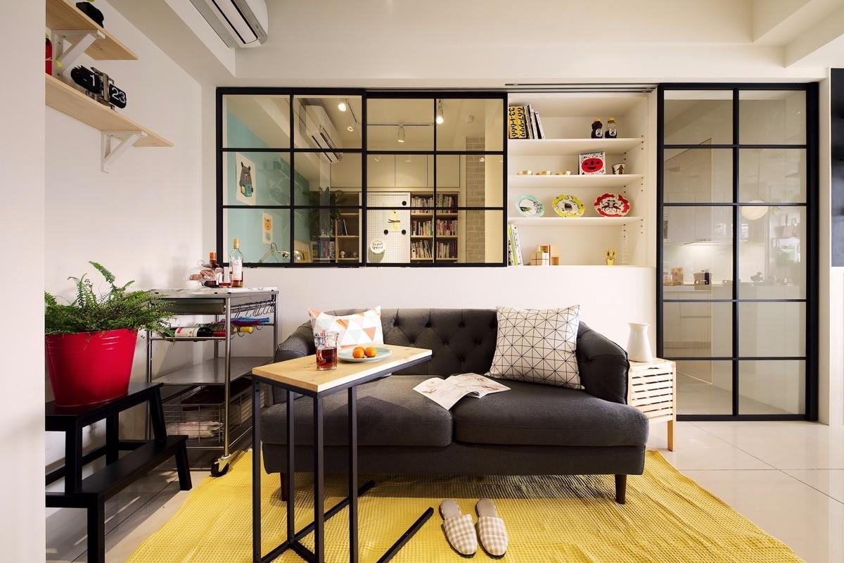 50平米北欧风一居室公寓装修效果图