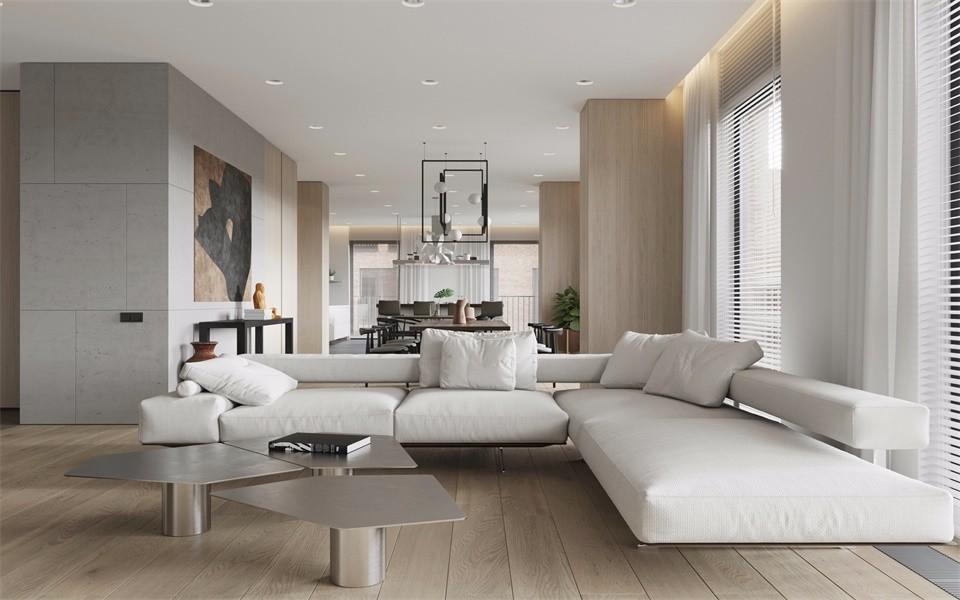 联投龙湾小区105平米北欧风格两居室装修效果图