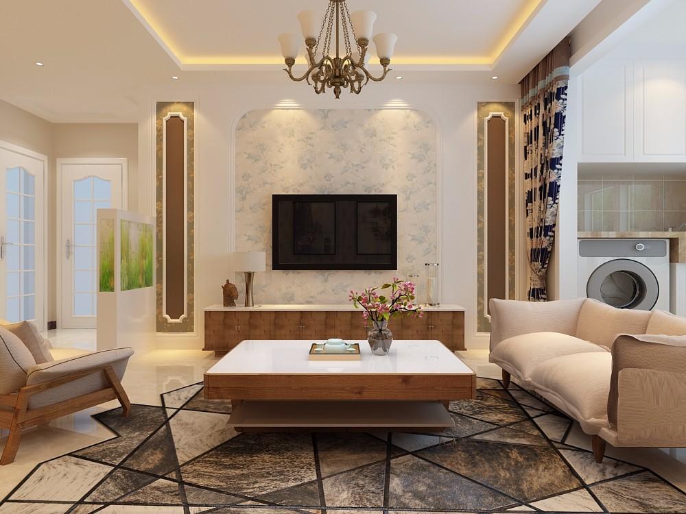 金科城140平米简欧风格三居室装修效果图