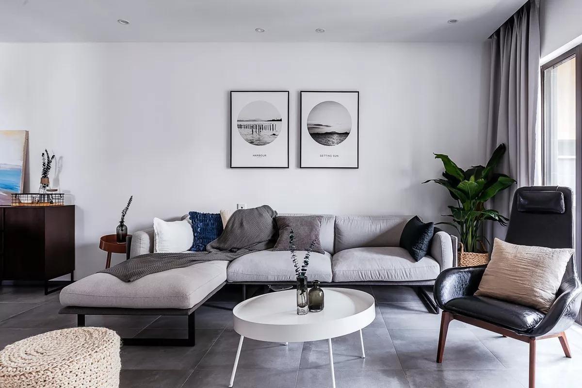 依云水岸160平米现代简约风格三居室装修效果图