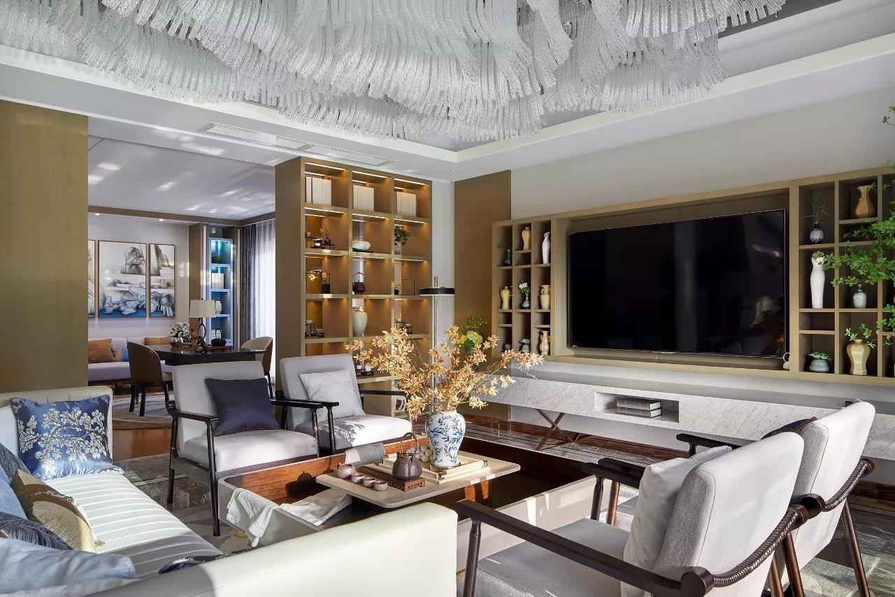 现代风格180平米三室两厅新房装修效果图