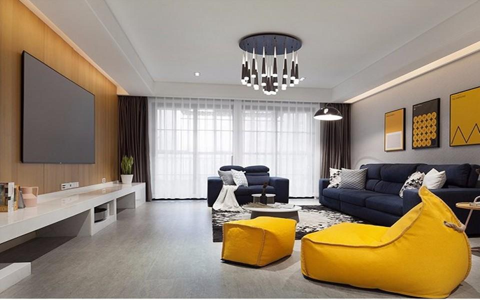 3室2卫1厅136平米混搭风格