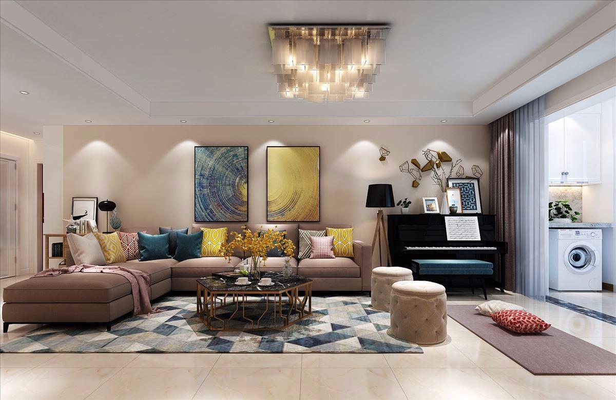 147平米现代风格三居室装修效果图
