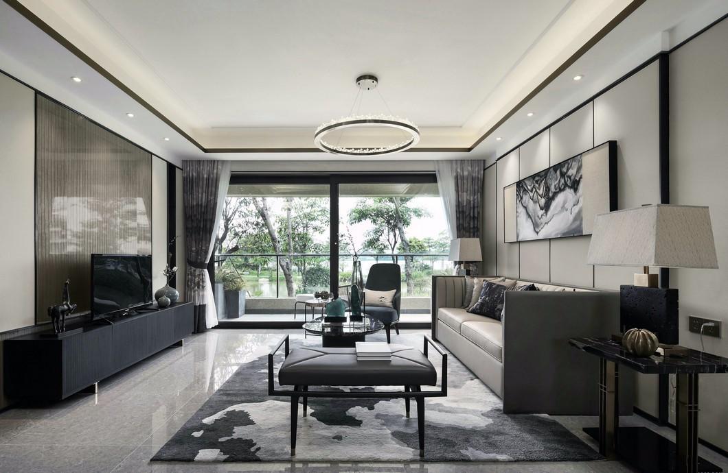 117平米新中式三室装修效果图