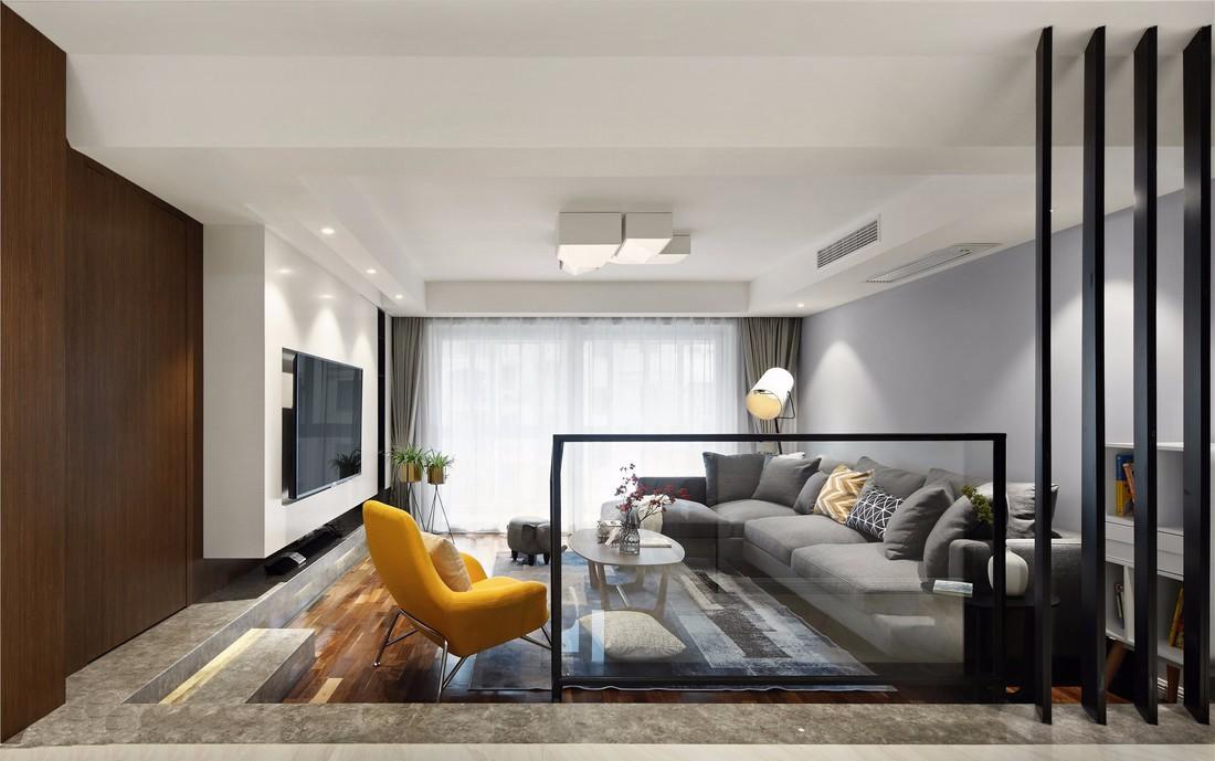 现代风格117平米复式室内装修效果图