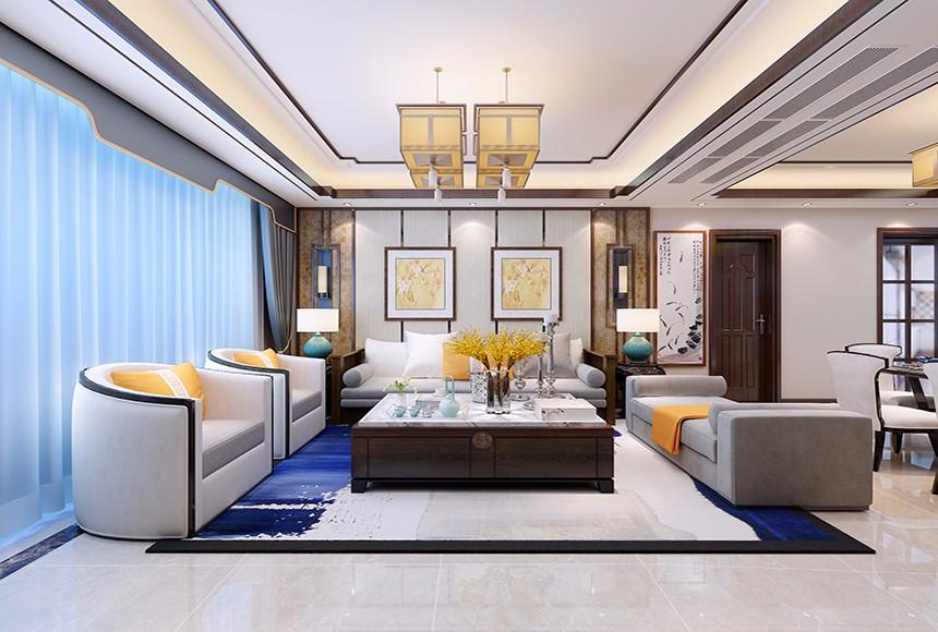 新中式风格180平米套房室内装修效果图
