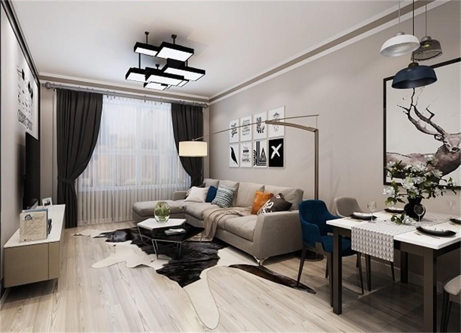 2室1卫2厅84平米现代简约风格