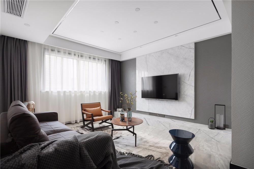 现代风格129平米三室两厅新房装修效果图