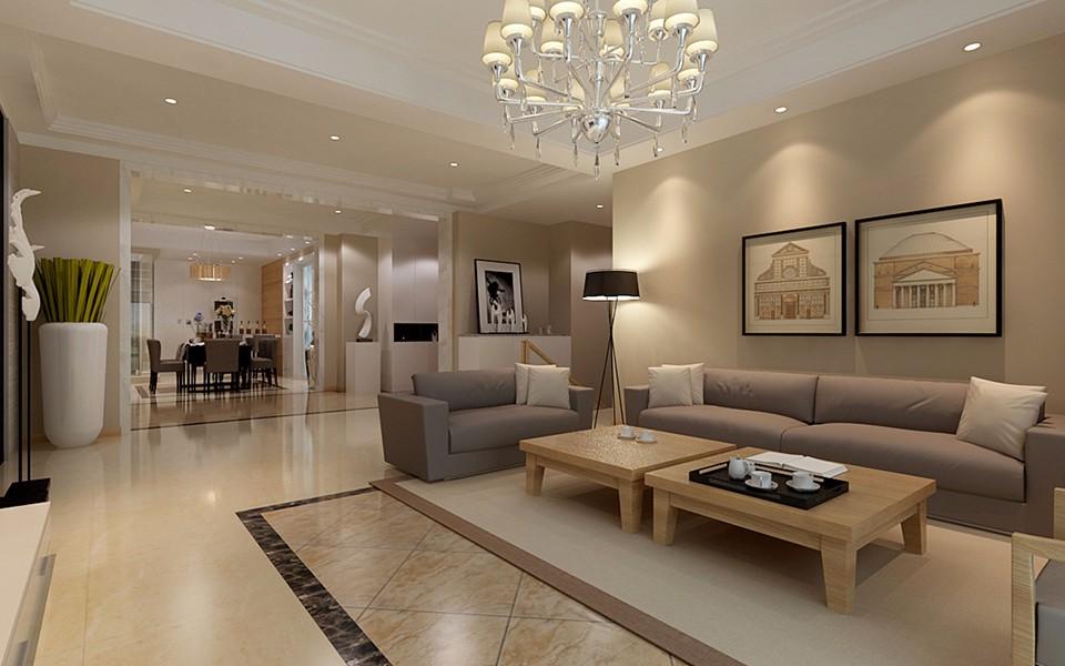 现代风格188平米三室两厅新房装修效果图