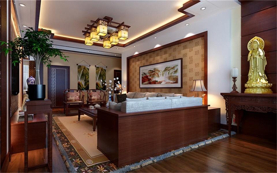 2室1卫2厅91平米中式风格