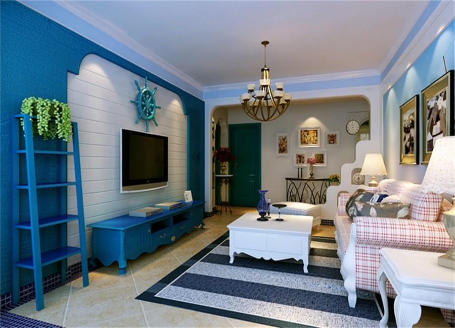 2室1卫2厅76平米地中海风格