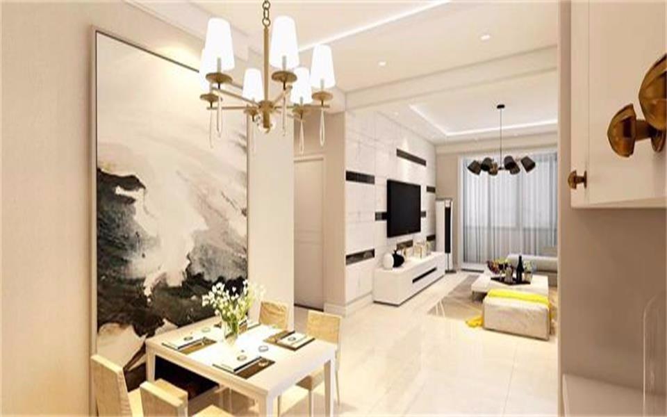 芮城国际96平米两居室简约风格装修效果图