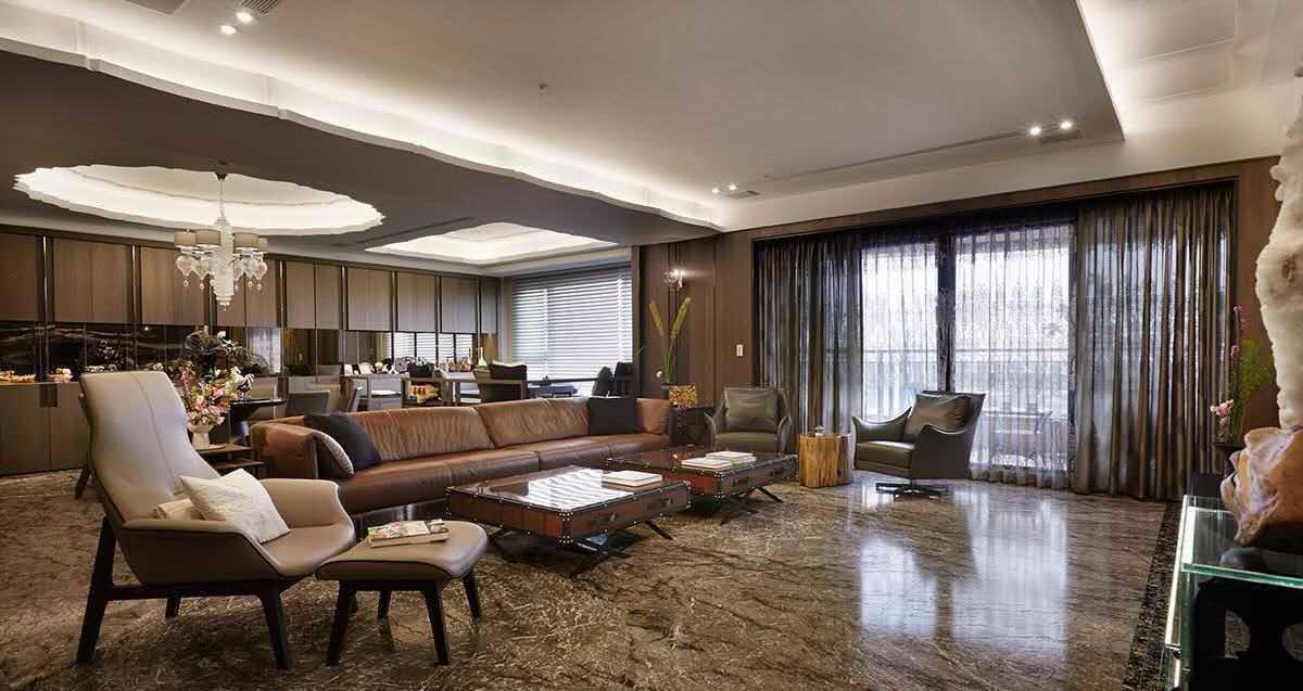 美式风格三居室150平米装修效果图