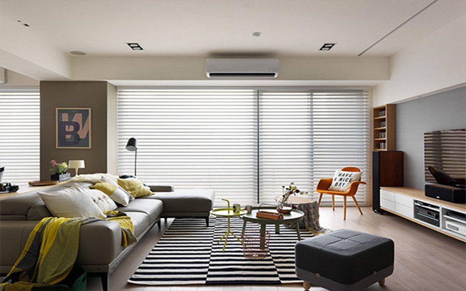 110平米三居室现代简约风格装修效果图