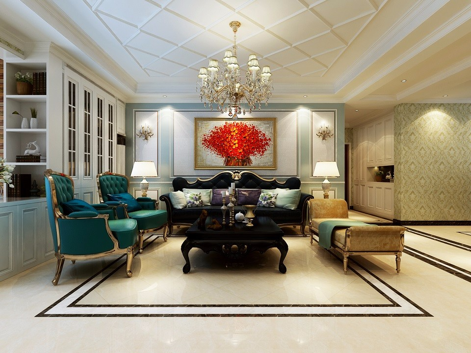 3室2卫2厅180平米欧式风格