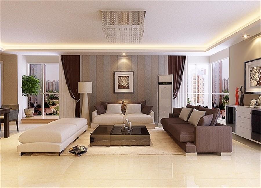 简约风格125平米三室两厅新房装修效果图