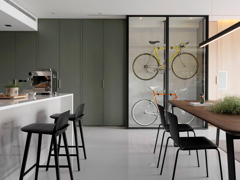 现代工业风三居室110平米装修效果图