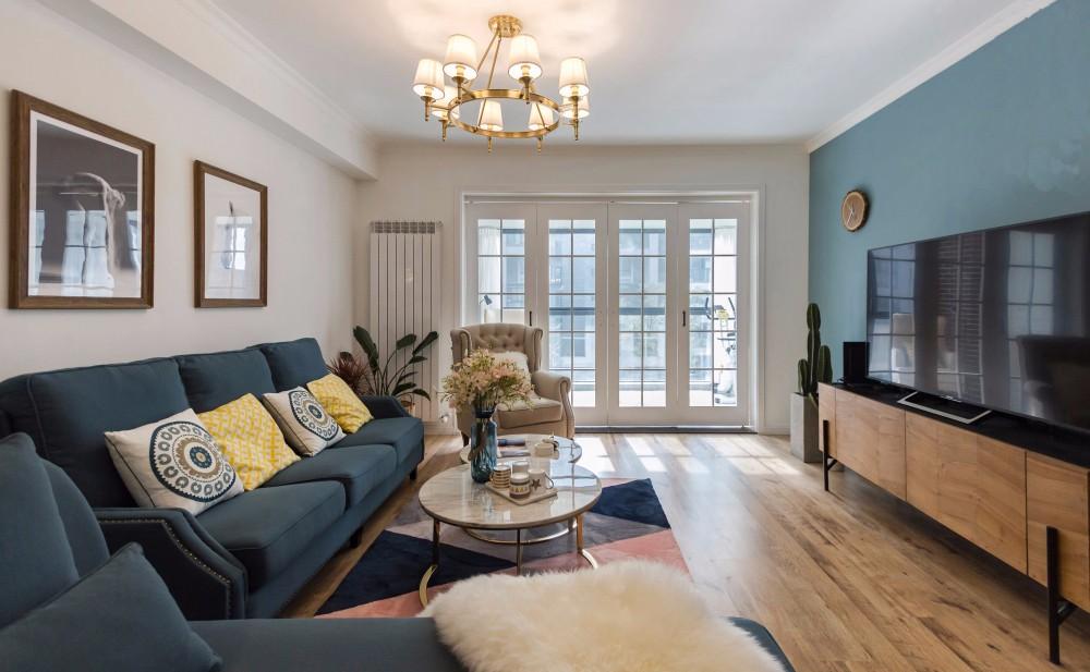 美式风格158平米四室两厅新房装修效果图
