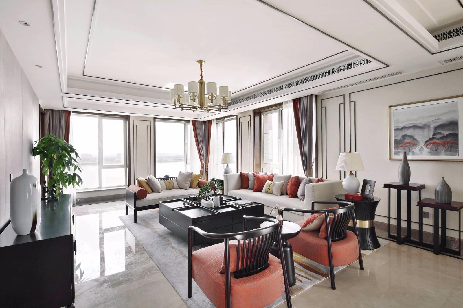 2019现代中式240平米装修图片 2019现代中式别墅装饰设计