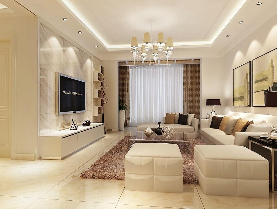 现代风格64平米两室两厅新房装修效果图