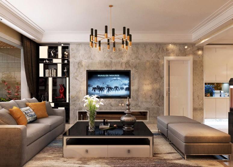 新晋府136平米现代风格三居室装修效果图