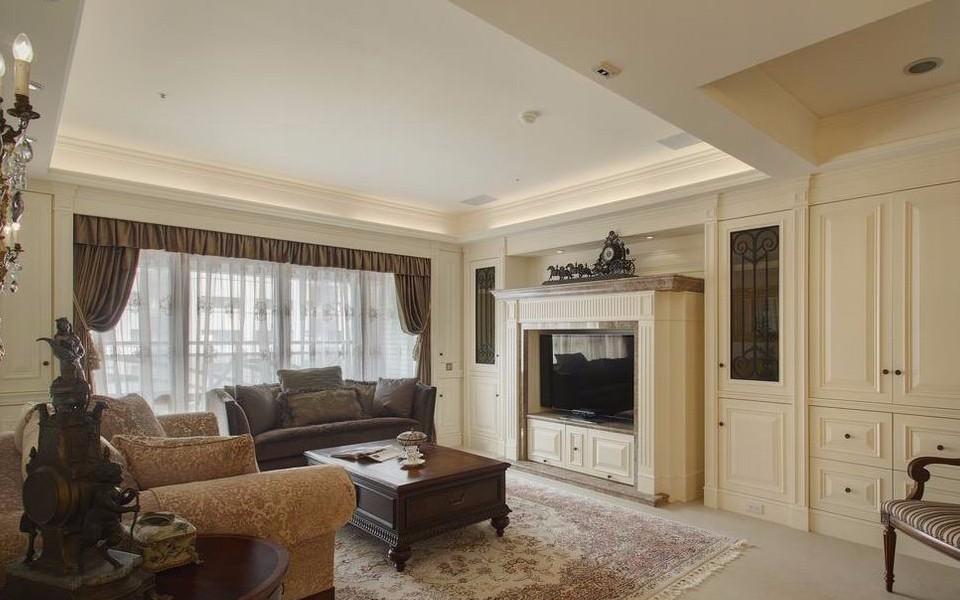 混搭风格127平米三室两厅新房装修效果图