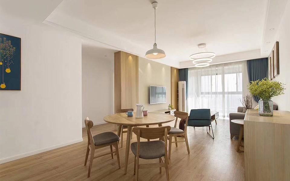 70平米日式风格两居室装修效果图
