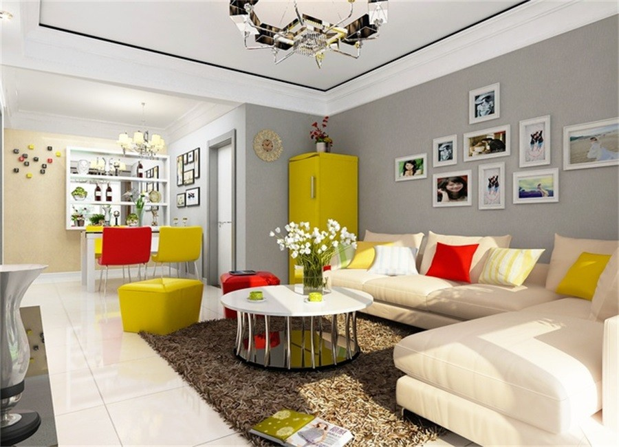 2室1卫1厅84平米现代风格